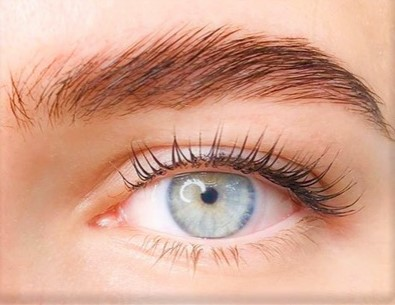 Wimpern mit Wimpernlifting