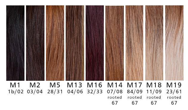 Haarteile Farben